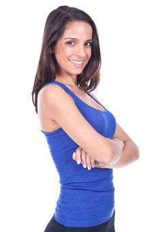 Free Teenage Girl With Arms Crossed Stock Photography - 20150922