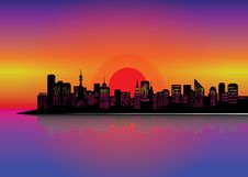 Free City Silhouette Stock Images - 20151074