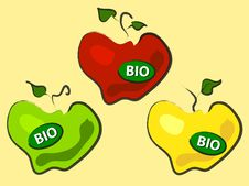 Free Three Bio Apples Royalty Free Stock Images - 20151219