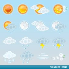 Free Weather Icon Set Royalty Free Stock Images - 20151349