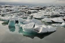 Floating Icebergs, Iceland Stock Photography