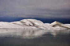 Floating Icebergs, Panorama View, Iceland Stock Image