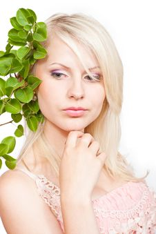 Free Blonde Girl With Beautiful Makeup Royalty Free Stock Image - 20151916