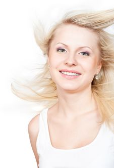 Free Beautiful Blonde With A Flying Hair Stock Photos - 20151923