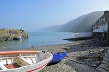 Coastal Fishing Village Stock Photo