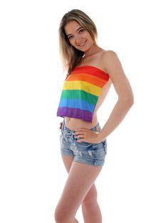 Free Girl Wearing Pride Flag Stock Images - 20152544