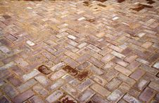 Newly Laid Floor Tiles Stock Photo