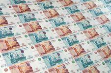 Russian Ruble Stock Photo