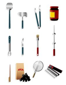 Cartoon Barbeque Party Tool Icon Royalty Free Stock Images
