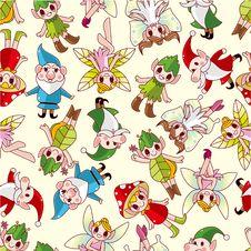 Free Seamless Elf Pattern Stock Image - 20154041