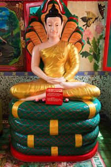 Buddha At The Thai Temple Wat Chayamangkalaram Stock Images