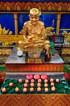 Buddha At The Thai Temple Wat Chayamangkalaram Stock Photography