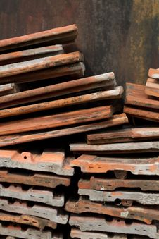 Heap Of Roofing Tiles Stock Photography