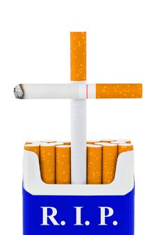 Free Grave Made Of Cigarettes Royalty Free Stock Images - 20155059