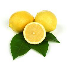Free Lemons On White Stock Photography - 20156022