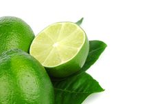 Free Limes On White Royalty Free Stock Image - 20156036