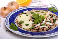 Free Meal With Beans And Cod Royalty Free Stock Images - 20156039