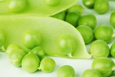 Free Pea Isolated On White Royalty Free Stock Images - 20156089