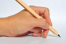 Free Hand Writng With A Pencil Stock Photography - 20156402