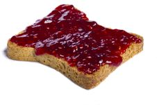 Free Toasted Bread With Jam Stock Image - 20156861