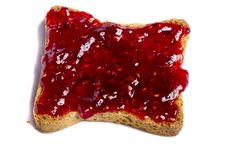 Free Toasted Bread With Jam Stock Photos - 20156873