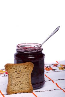 Free Toasted Bread With Jam Stock Images - 20156954