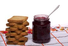 Free Toasted Bread With Jam Stock Images - 20156964