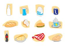 Free Food Icons Royalty Free Stock Photography - 20159557