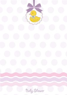 Free Baby Shower Card Stock Photography - 20159622