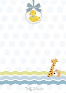 Free Baby Shower Announcement Card Royalty Free Stock Images - 20159629
