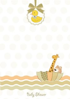 Free Delicate Baby Shower Card Stock Photography - 20159652