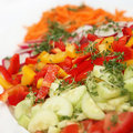 Free Fresh Salad With Peppers And Cucumbers - Square Stock Photos - 20160423