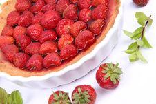 Free Strawberry Tart Royalty Free Stock Photo - 20160145