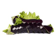 Free Eggplant On White Background Royalty Free Stock Image - 20160766
