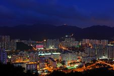 Free Hong Kong Downtown At Night Royalty Free Stock Images - 20160799