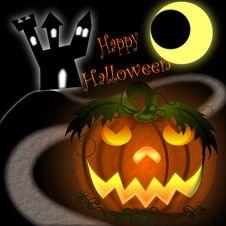 Free Halloween Pumpkin Greetings Royalty Free Stock Images - 20160889