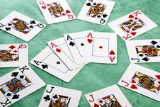 Circle Of Cards Royalty Free Stock Photos