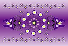Free Horizontal Ornament With Iris Stock Photos - 20161503