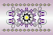 Free Horizontal Ornament With Iris Royalty Free Stock Photo - 20161555