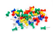 Colored Plastic Pins Stock Photos