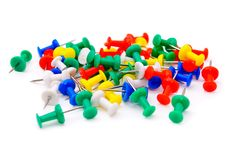 Colored Plastic Pins Royalty Free Stock Images