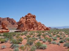 Free Rest Stop In Valley Of Fire Stock Images - 20161974