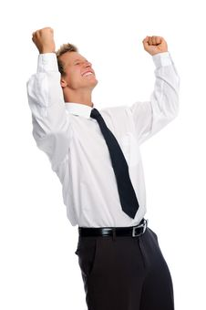 Young Professional Is Excited Royalty Free Stock Photography
