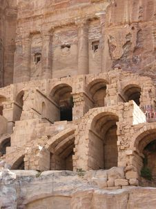 The Ancient City Of Petra Stock Photography
