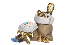 Free Sweet Almonds And Chocolate Bunnies Stock Images - 20162514