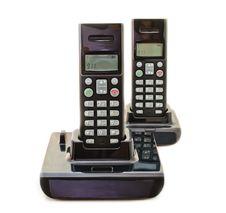 Black Wireless Phones Stock Photo