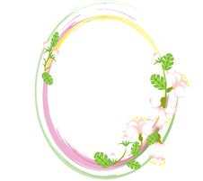 Free Oval Flowers Frame Stock Photography - 20162792