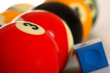 Free Pool Balls And Chalk Royalty Free Stock Images - 20163249