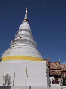 Free White Pagoda Royalty Free Stock Image - 20163366