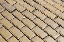 Cobblestone Pavement Close Up Stock Image